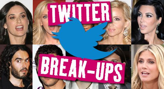 Ten celebrity twitter break-ups