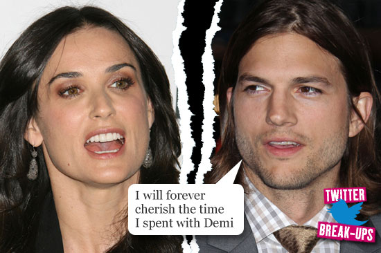 Twitter break-ups: Demi Moore and Ashton Kutcher