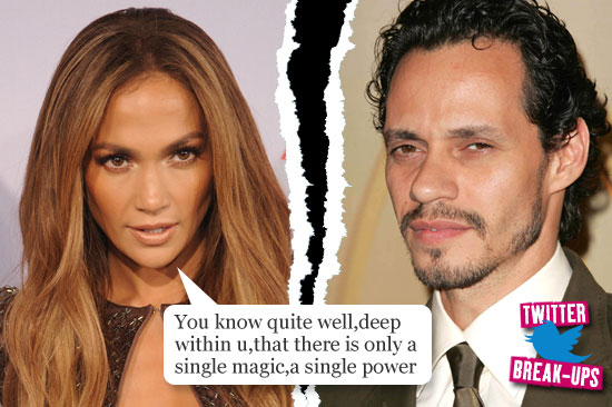 Twitter break-ups: Jennifer Lopez and Marc Anthony