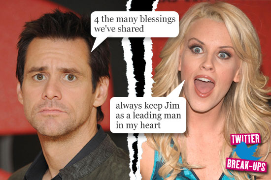 Twitter break-ups: Jim Carrey and Jenny McCarthy