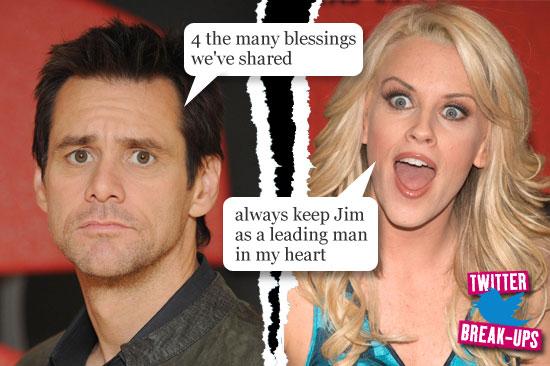 Twitter break-ups: Jim Carrey and Jenny McCarthy