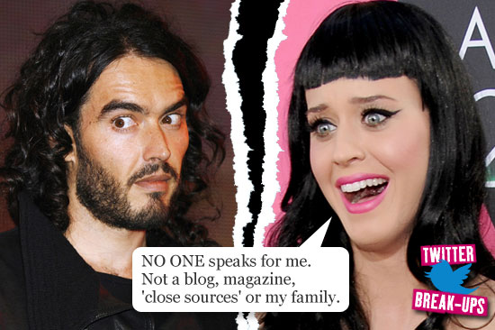 Twitter break-ups: Russell Brand and Katy Perry