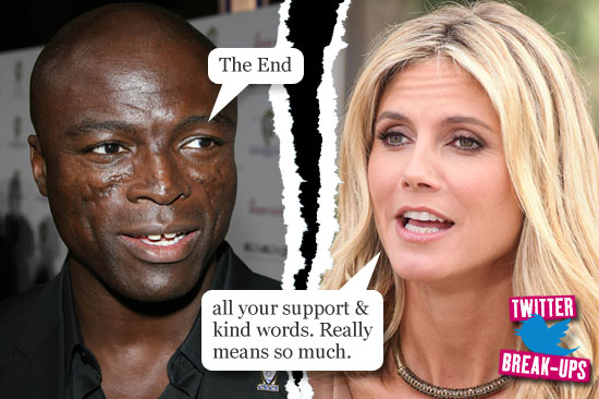 Twitter break-ups: Seal and Heidi Klum