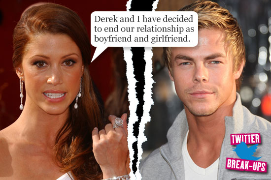 Twitter break-ups: Shannon Elizabeth and Derek Hough