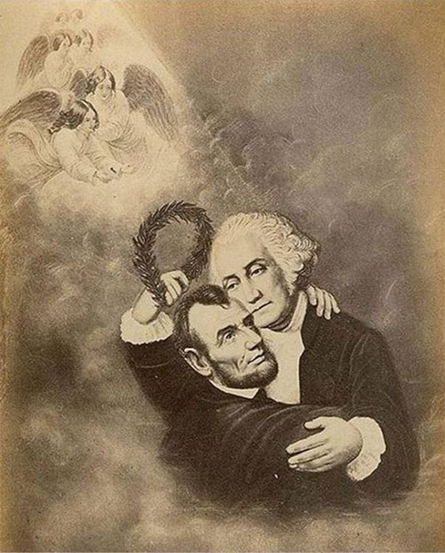 Mismatched couples: Abraham Lincoln and George Washington