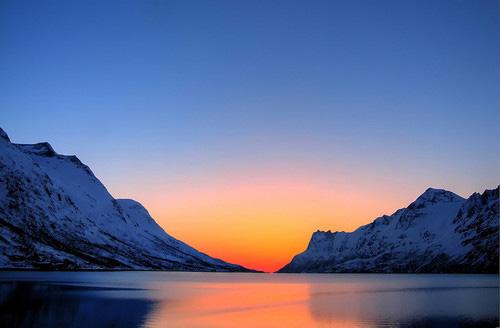 Troms fylke sunset