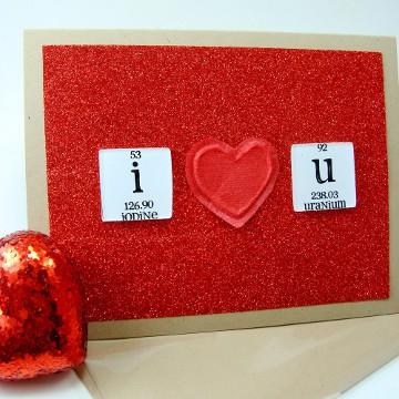 Chemistry Geek Valentine's Card