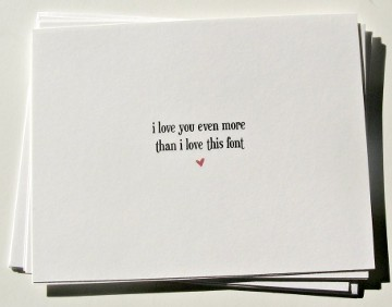 Font Valentine's Card
