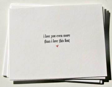 Font Valentine's Card