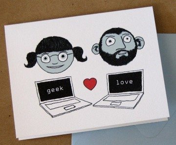 Geek Love Valentine's Card