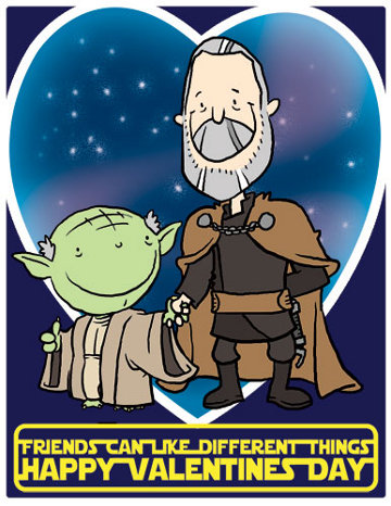 Star Wars-themed Valentine's card