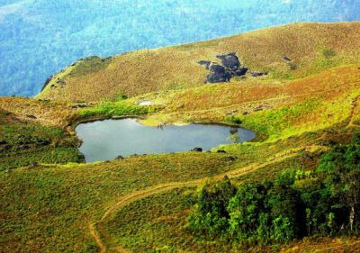 Heart-Shaped Lake, Chembra, India