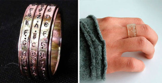 Rotating rings crypto wedding ring
