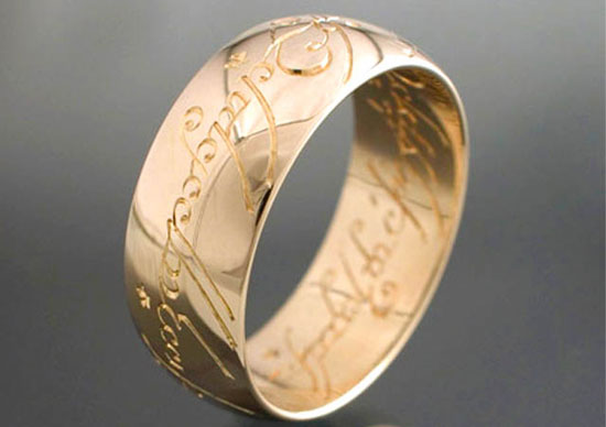 Hand-engraved Hobbit ring