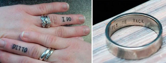 funny wedding ring engraving quotes