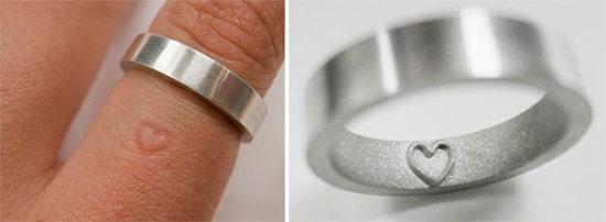 Wedding ring imprints symbol on finger