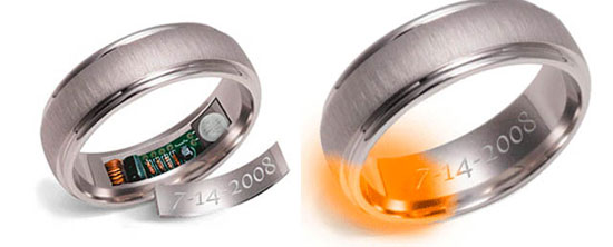 Remember rings heat up to remind you of your anniversary