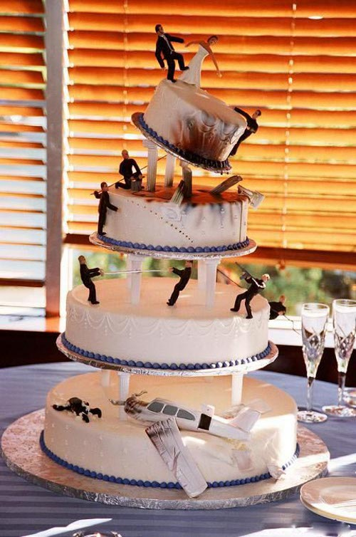 Action Hero Wedding Cake