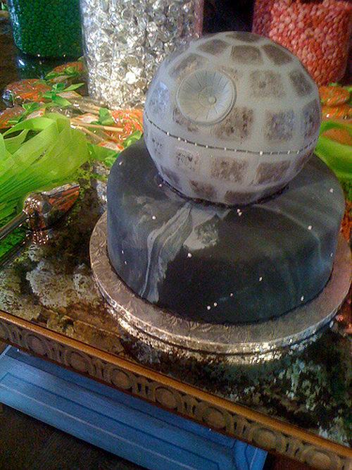 Death Star Wedding Cake