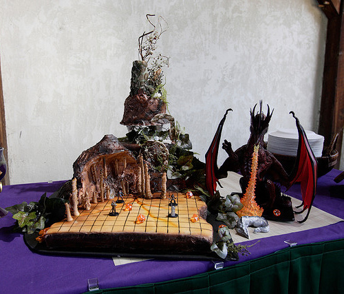 Dungeons and Dragons Wedding Cake