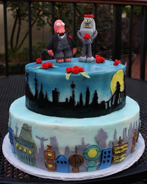 Futurama Wedding Cake