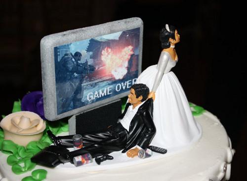 Video Games Wedding Cake