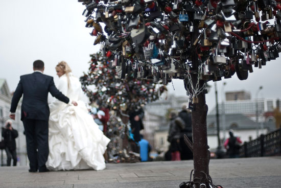 Love padlocks - Moscow, Russia