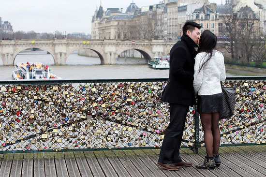 Love padlocks - Paris, France