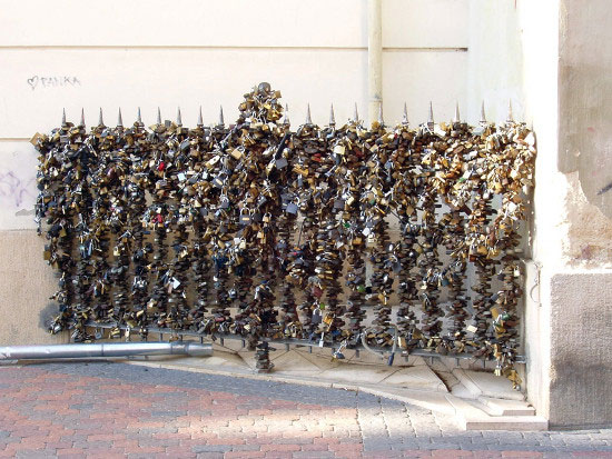 Love padlocks - Pecs, Hungary