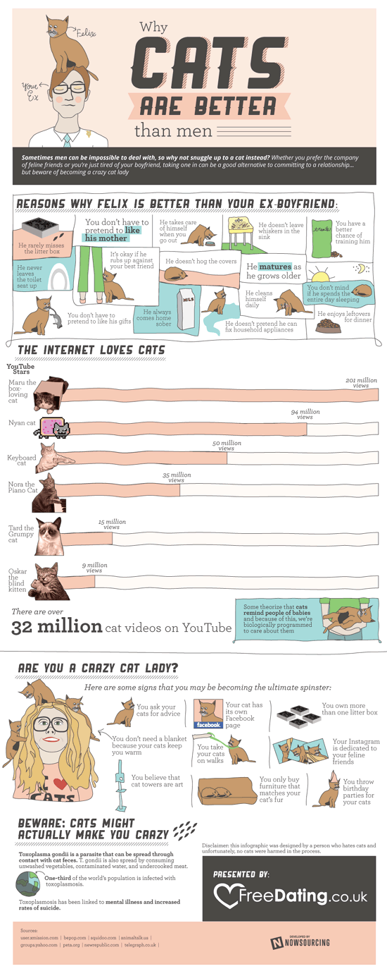 Infographic: Why Cats are Better than Men