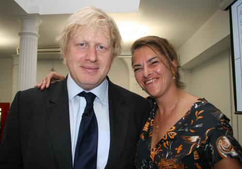 Boris Johnson and Tracey Emin