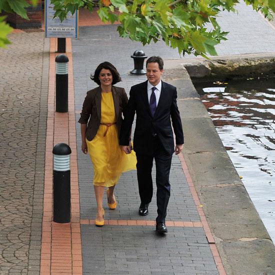 Nick Clegg and Miriam Durantez