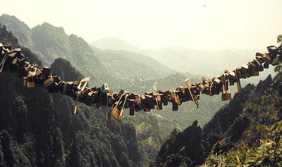 Love padlocks - Huangshan, China