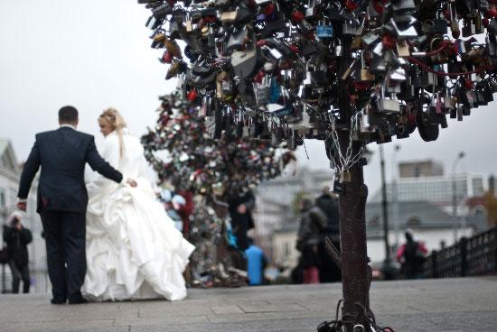 Love padlocks - Moscow, Russia