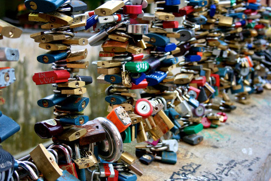 Love padlocks - Prague, Czech Republic